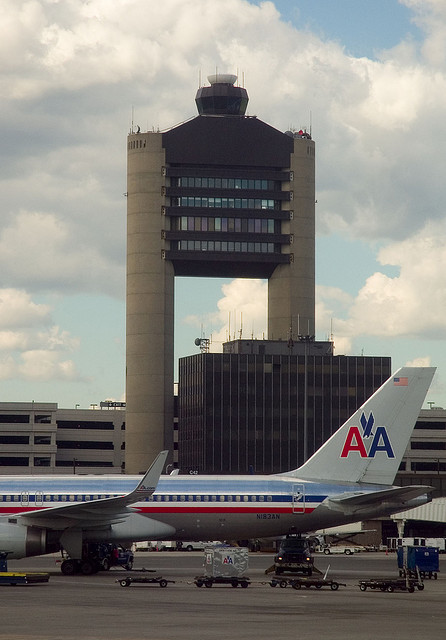 The Air Traffic Control tower at Logan International Airport, Boston
