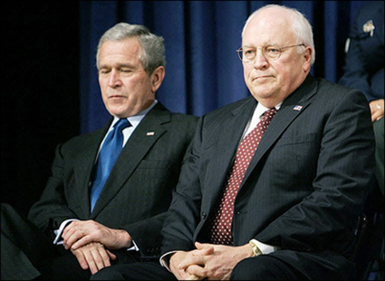 former President George W. Bush and former Vice President, Dick Cheney