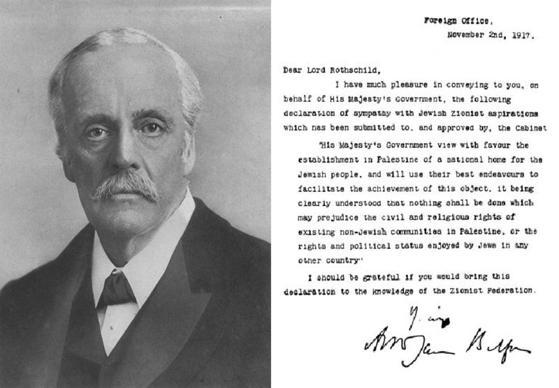 Portrait of Lord Balfour and his famous declaration