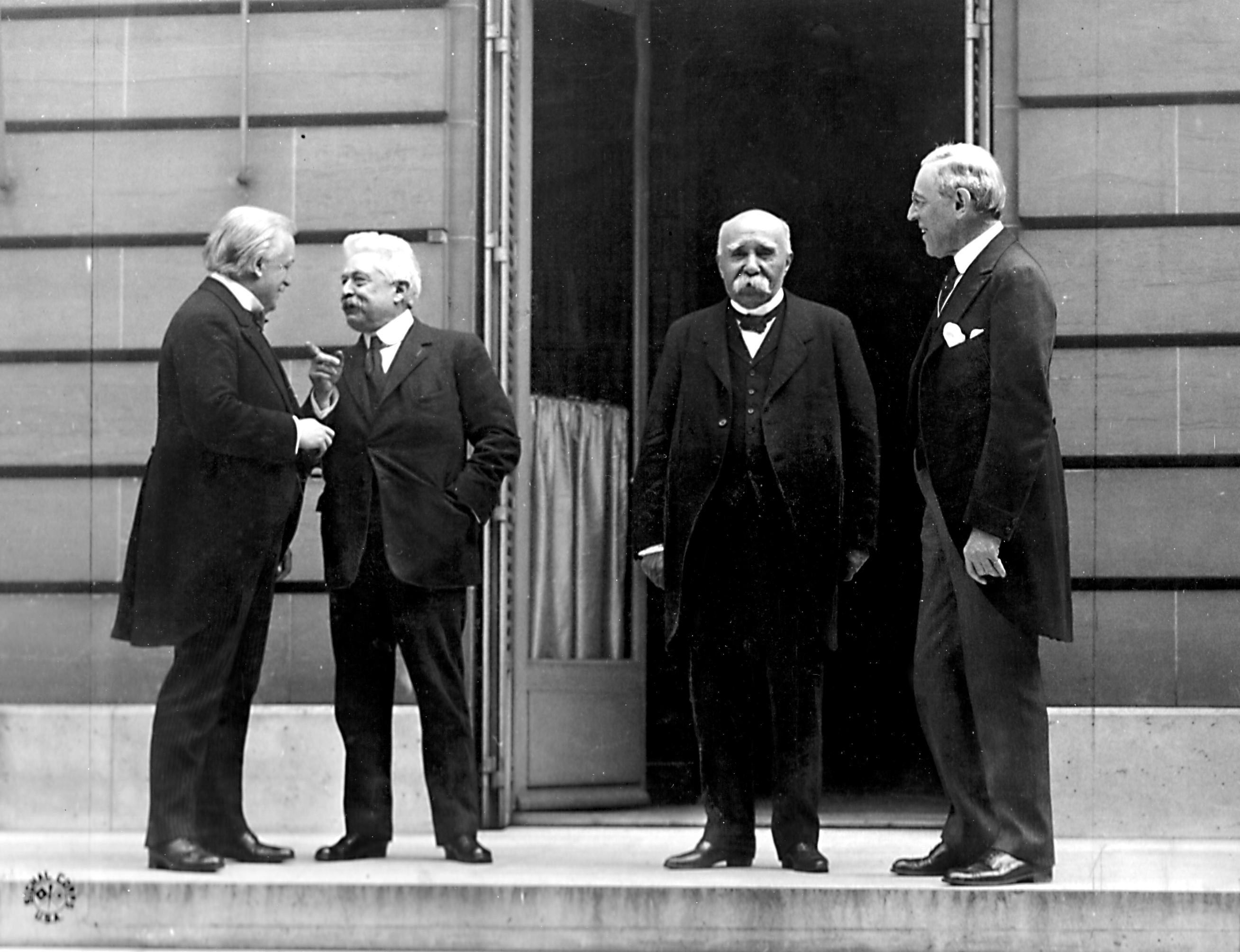 Big Four Western leaders at WW1 Paris peace conference, 27 May 1919