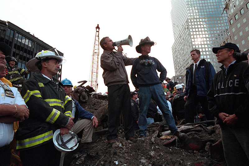 President Bush at ground zero
