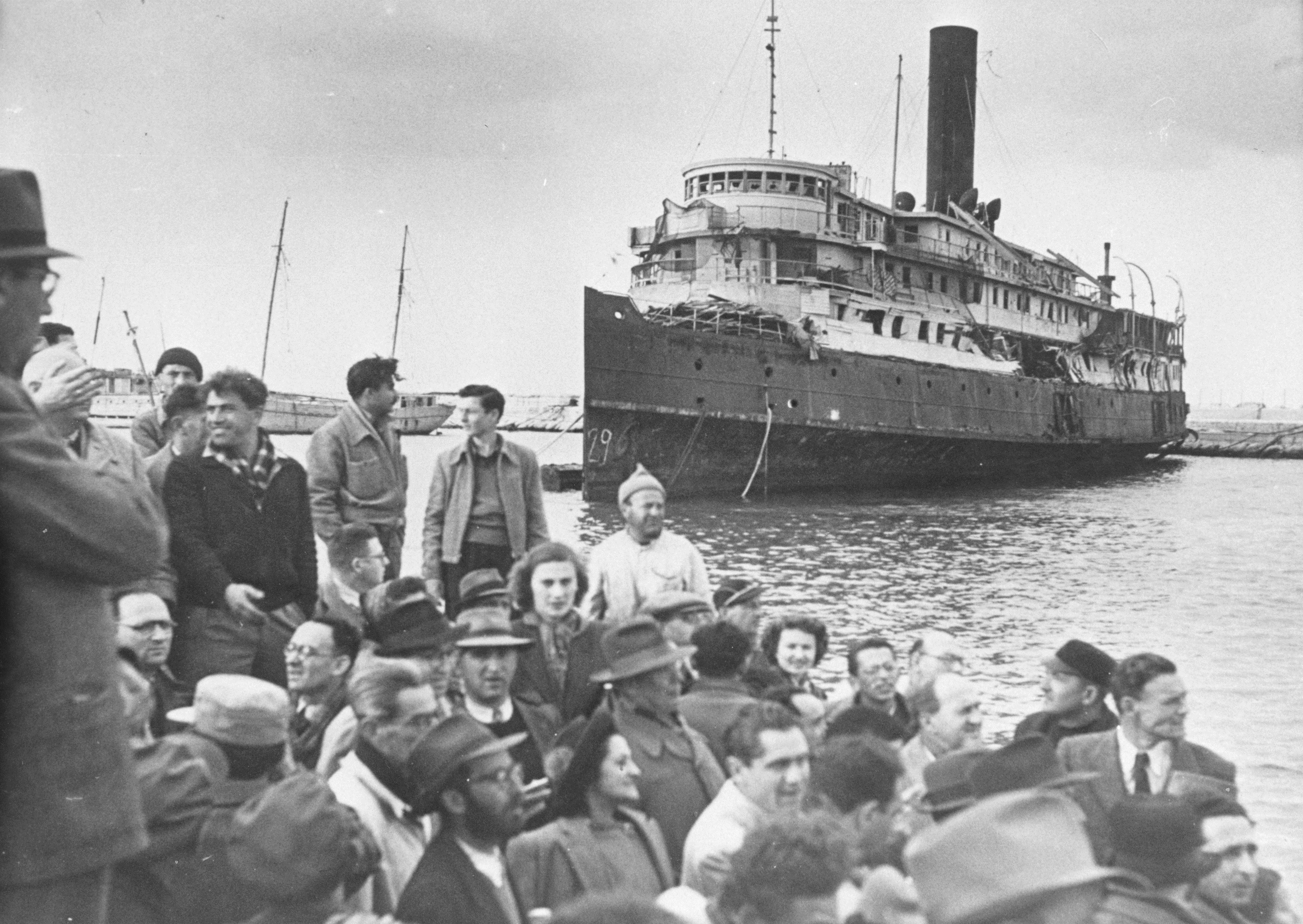 Jewish immigrants arriving in Israel in 1947