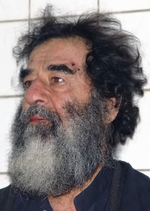 Saddam Hussein after his capture in 2003