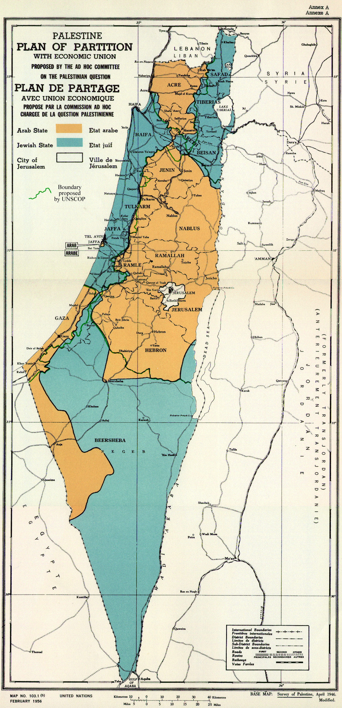 Partition plan for Palestine in 1947