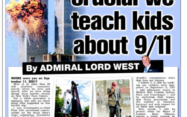 The Sun, 3rd March 2015 - Why It Is Crucial We Teach Kids About 9/11 News 3 Mar 2015
