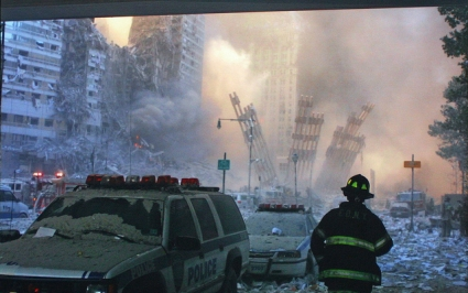 Flight 175 crashes into the South Tower time