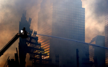 BBC news report on 9/11 attacks time