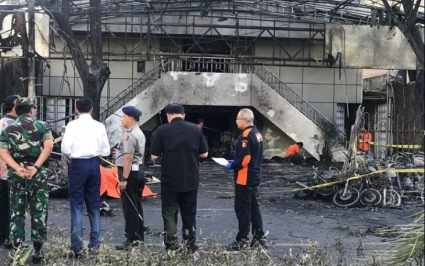Surabaya Suicide Bombing time