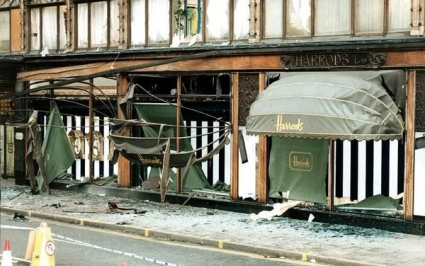 Harrods bombing, London time
