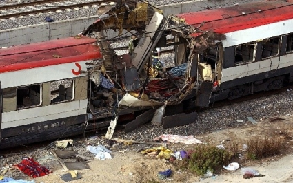 Madrid train bombs time
