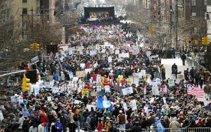 Anti-War Protests Take Place Worldwide time