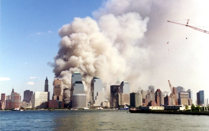 The New York skyline on 9/11 time