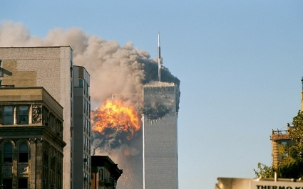 Flight 175 crashes into the south tower of WTC time